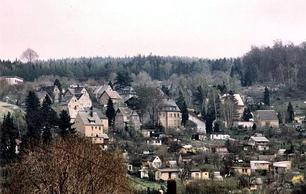 Scholl-Straße Ende der 1980er Jahre.