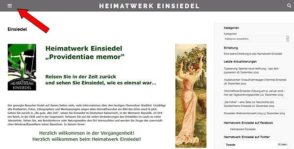 Screenshot Heimatwerk Einsiedel