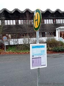 Sonderbushaltestelle vor F+U Einsiedel Januar 2016