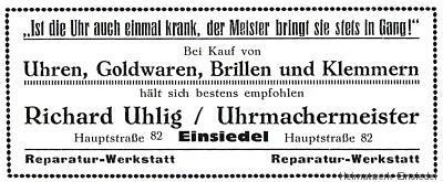 Werbeanzeige Richard Uhlig 1926