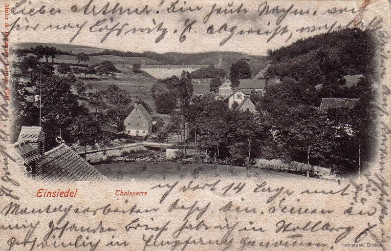 Blick zur Talsperre 08.06.1903