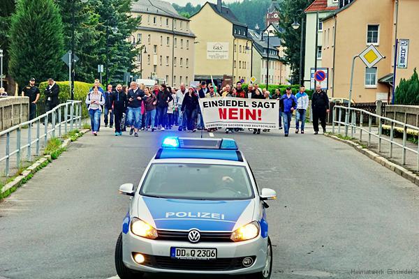 Demo in Einsiedel am 25.05.16