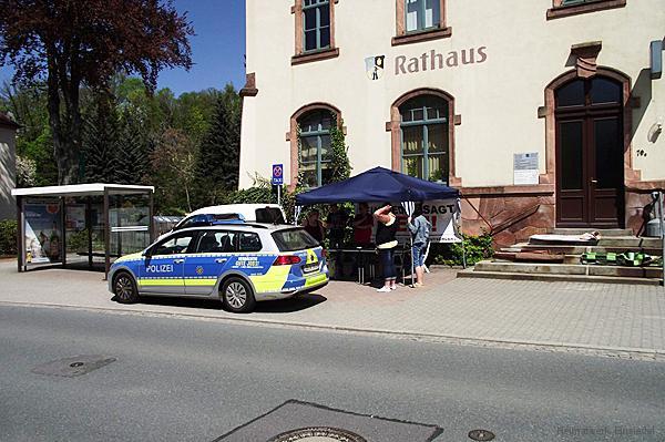 Infostand vorm Rathaus Einsiedel 08.05.16