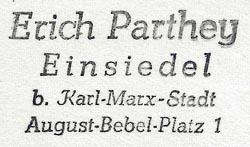 Stempel Erich Parthey