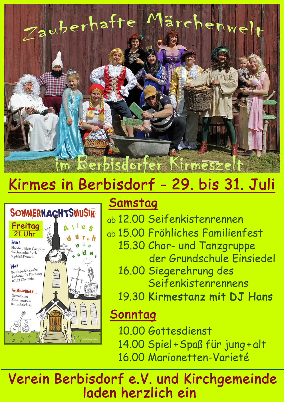 Kirmes in Berbisdorf Flyer