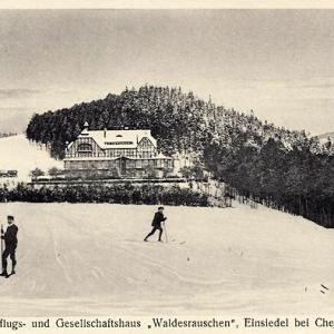 Winter am Etablissement Waldesrauschen in Einsiedel.