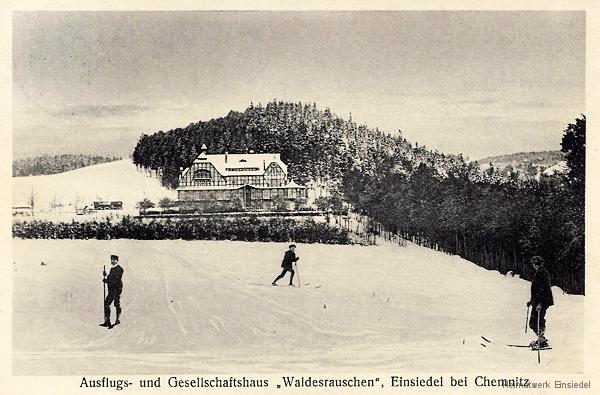 Winter am Waldesrauschen Einsiedel.
