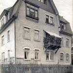 Berbisdorfer Straße 3 in Einsiedel etwa um 1920, Schieferwinkel.