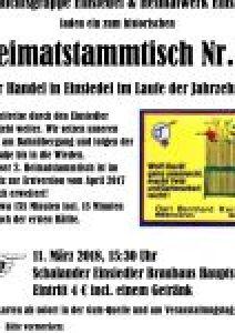 Heimatstammtisch Einsiedel Nr. 2 am 11.03.2018