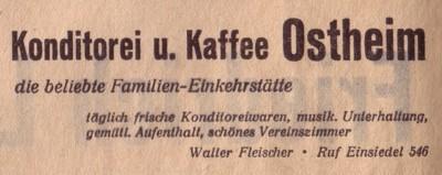 Ostheim Einsiedel Pächter Walter Fleischer