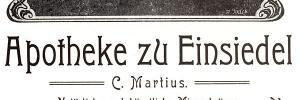 Annonce Apotheke Einsiedel 1905