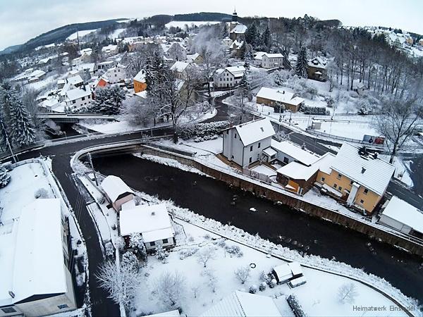 Oberfösterbrücke Einsiedel - Drohnenaufnahme um 2015