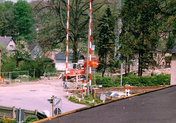 Brückenabriss und Neubau 1992