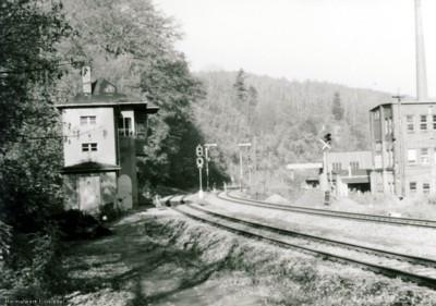 Stellwerk 1 in Einsiedel 1984