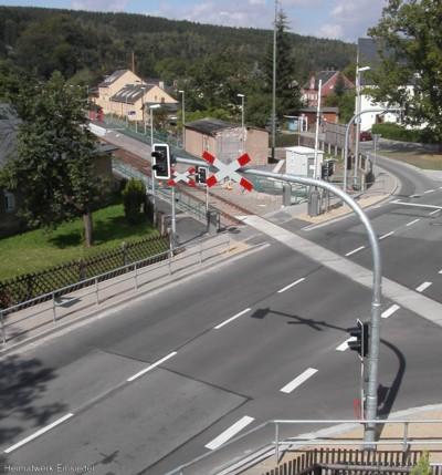 Bahnübergang Einsiedel September 2004