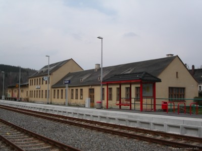 Bahnhof Einsiedel April 2005