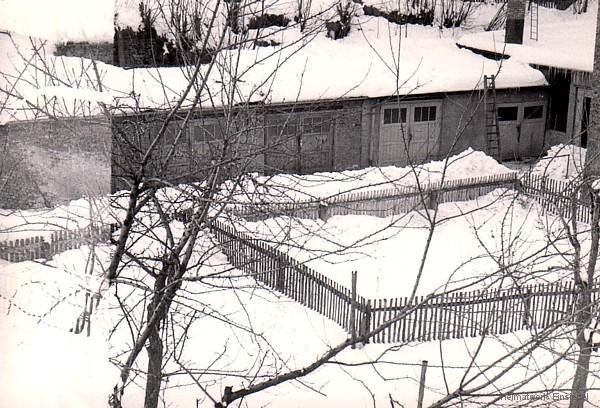 Garagen der Wagenpflege Erich Schmidt, Einsiedel 1970