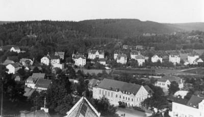 Schulturmblick Richtung Ostheim in den 1930er Jahren