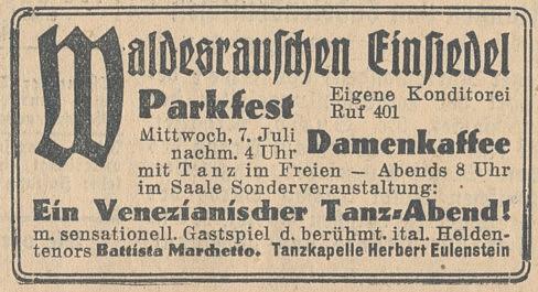 Werbung Juli 1937