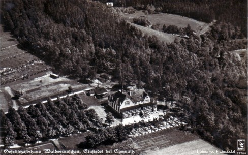 Luftbildaufnahme Waldesrauschen Einsiedel
