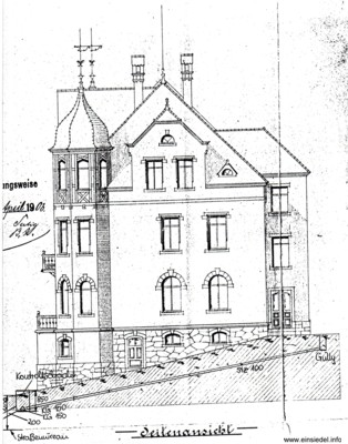 Bauzeichnung 1903 Süd