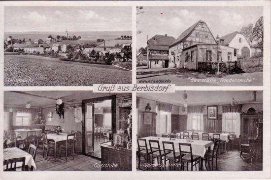 Gasthaus zur Friedenseiche Postkarte 1941