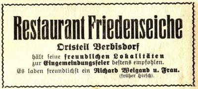 Reklameanzeige 1935