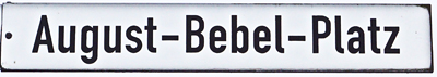 Straßenschild August-Bebel-Platz