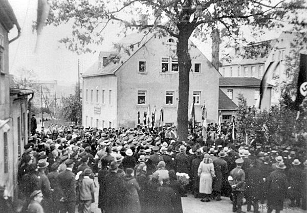 Weihe Kriegerdenkmal Berbisdorf