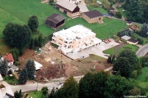 Luftbildaufnahme Sanierung ehem. Möbelkonsum Einsiedel
