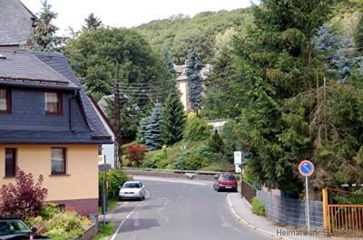Beginn der Berbisdorfer Straße in Einsiedel 2009.