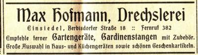 Annonce Einsiedler Wochenblatt 1935