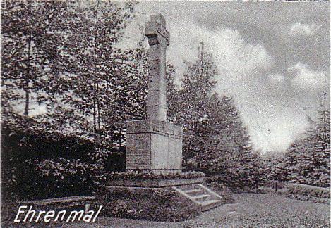 Ehrenmal Einsiedel 1934