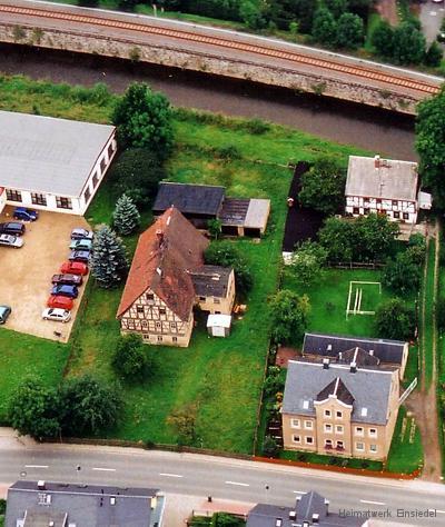 Fachwerkhaus Einsiedel Luftbildaufnahme 2005
