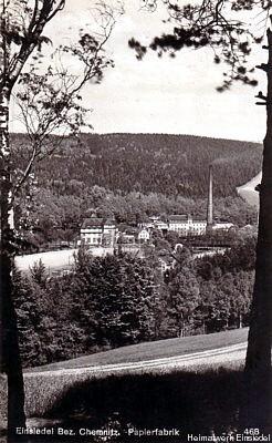 Papierfabrik Einsiedel um 1929