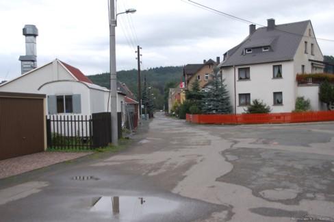 Ende der Fabrikstraße am Wexplatz