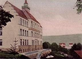 Neue Schule Einsiedel, frühe Lithografie