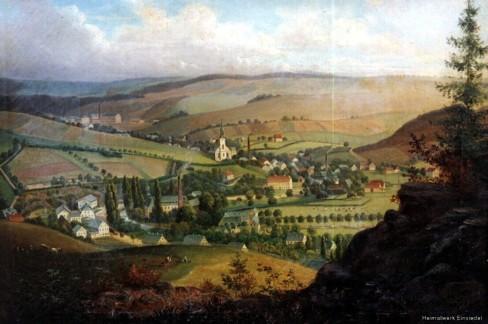 Gemälde Einsiedel, Mittelort um 1870