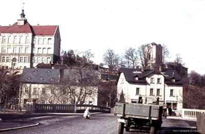 Neue Straße in Einsiedel, unterer teil in den 1950er Jahren