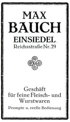 Fleischerei Max Bauch, Einsiedel, Reichstraße