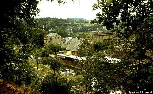 Ehemaliges Totengräberhäusel, 1983 vom Rodigpark aus fotografiert