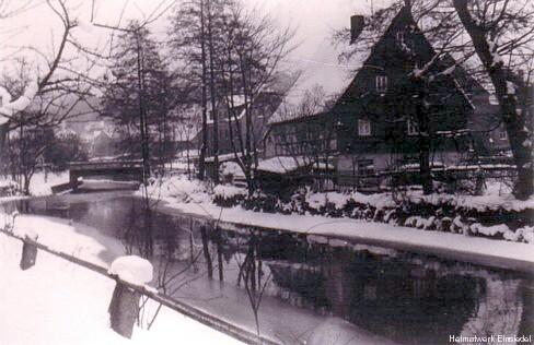 Winteraufnahme Lang-Häusel in den 1950er Jahren