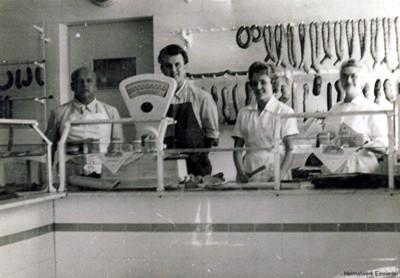 Geschäftsübergabe in der Fleischrei Edel 1970