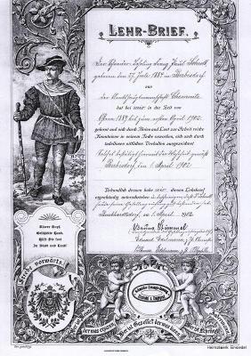 Lehrbrief Schneider Paul Schroll Berbisdorf