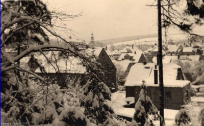 Bäckerei Nötzel, rückwärtige Ansicht von 1934.