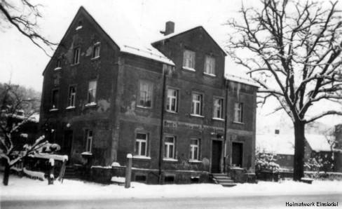 Die Einsiedler Bäckerei Pilz im Winter 1970