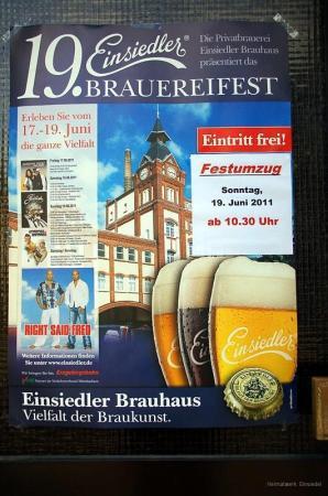 Plakat zum Einsiedler Brauereifest 2011