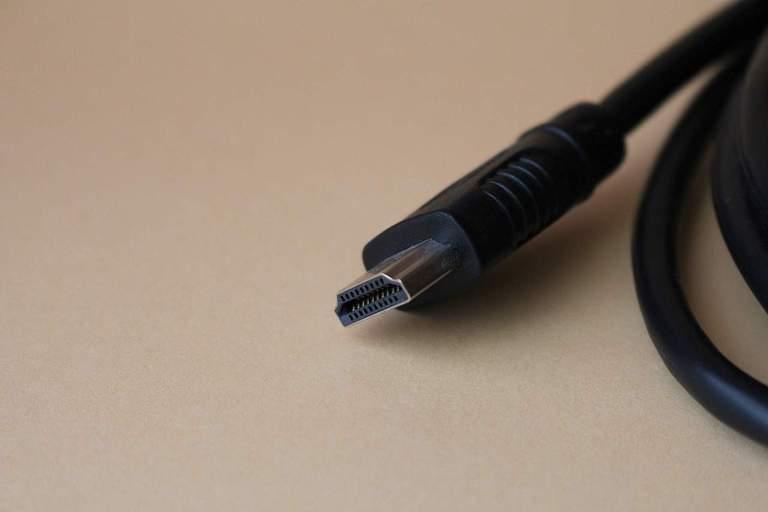 Nahaufnahme Ende eines HDMI-Kabels