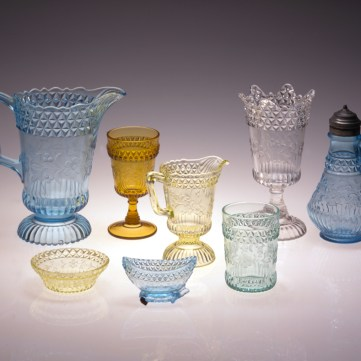 Adams & Co. and U.S. Glass Co., Wildflower or #140 pattern, Pittsburgh, 1875-1900
