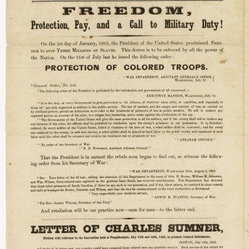 Civil War broadside, From Slavery to Freedom